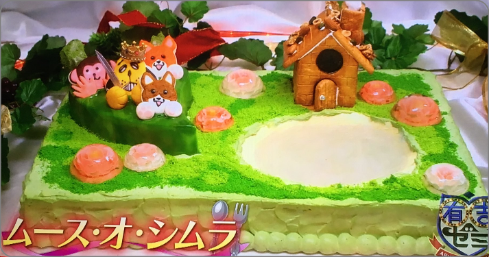 きーくんと志村けん。手作りケーキプレゼント
