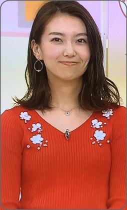 和久田麻由子アナ可愛い。赤い服