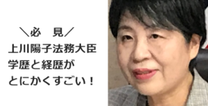 上川陽子法務大臣 学歴 経歴